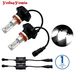 Wholesale Drl Lights Ford - Pair 8000Lm For Philips Lumiled ZES Chip 80W H4 H7 H11 LED Bulbs Conversion Kit for Car Headlights Fog Lights DRL H11 H8 6000K Xenon White