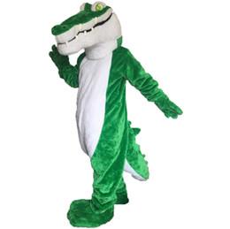 Wholesale Mascot Costume Plush - crocodile mascot costume EMS free shipping, high quality carnival party Fancy plush walking crocodilian mascot adult size.