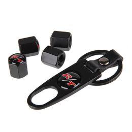 Wholesale Badges Automobiles - 4pcs set Car-Styling RT Logo Badge Emblem Car Wheel Tire Valve Motorcycle Automobile Tyre Cap Accessories