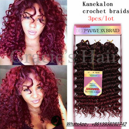 Wholesale Deep Wave Braid Hair - 10inch deep wave Synthetic braided style 10inch freetress water wave hair crochet braids deep wave hair 3X Braid Savana bohemian hair