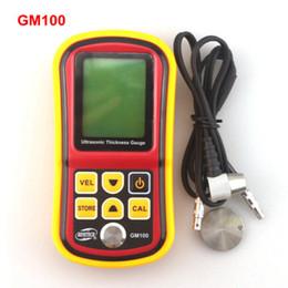 Wholesale Ultrasonic Meters - GM100 Digital LCD Ultrasonic Thickness Meter Tester Gauge Metal Testering Width