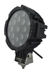 Canada Vente chaude 7 Pouce 51W Voiture Ronde LED Lumière De Travail 12V Haute Puissance 17 X 3 W Spot Pour 4x4 Tracteur De Camion Offroad Tracteur Brouillard Lampe Offre