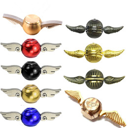 Wholesale Wholesale Metal Spinning Top - 2017 New Spinning Tops Harry Potter Spinner Metal Antistress Cupid Angle top Spiner Toys Model Stress Relief Fidget Spinners