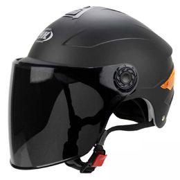Wholesale Half Face Motorbike Helmets - YOHE Half helmet electro car YH-357 Motorcycle motorbike helmet off road motorcross helmet with ABS   matte black