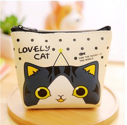 Wholesale Drop Ship Wallet - Hot Sale Kids Lovely Cat Money Clips Factory Price Purse Wallet Large Capacity Card Case Drop Shipping