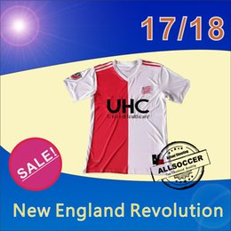 Wholesale Red Revolution - 17 18 Major League Soccer New Arrival England Revolutions white with red 2017 2018 Thailand high quality soccer jersey