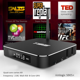 Wholesale Android Quad Core 16gb - T95 S905X Android TV Boxes fully loaded update metal case 1GB 8GB 2GB 16GB WIFI Bluetooth4.0 T95 Streaming TV Box