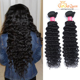 Wholesale deep curly virgin hair - Wholesale 8A Brazilian Virgin Hair Deep Wave Unprocessed Brazilian Deep Wave Curly Hair Bundles Brazilian Remy Human Hair Extensions