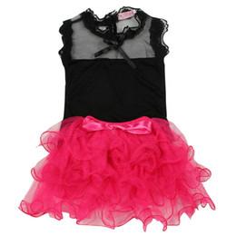 Wholesale Wholesale Baby Bubble Sets - Wholesale- 2Pcs Baby Girls Sets Sweet Lace Top + Skirt Toddler Tutu Bubble Tulle Skirts