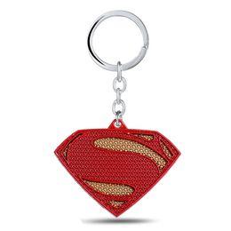 Wholesale Promotion Themes - 10pcs lot The Avengers Series Moives Theme superman keychain 3D Logo metal keychain S letter logo keyring for men wholesale