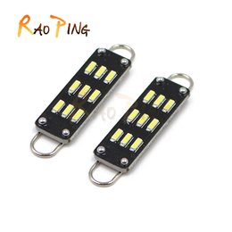 Wholesale Car Led Interior Lights 42mm - C5w Auto led lamp 42mm 12V Car interior Festoon Dome light 9smd 3014 Reading Light Lamp bulbs white New arrivals