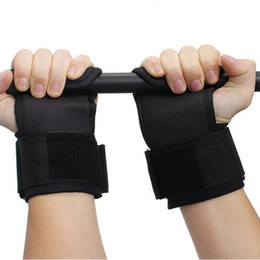 Wholesale Hand Protection Strap - Wholesale- Hot-selling New Skid Gym Training Weight Lifting Straps Wraps Hand Bar Wrist Support Protection