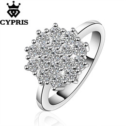 Wholesale Joyas Cz - R549 silver Ring Engagement Lover finger ring lady Women Men Austria cz rhinestone Crystal Ellegant Ring joyas de 925 925