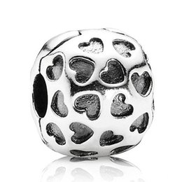 Wholesale Spikes Head - Authentic 925 Sterling Silver Bead Charm Head Over Heels Clip Lock Stopper Beads Fit Women Pandora Bracelet Bangle Diy Jewelry HK3361