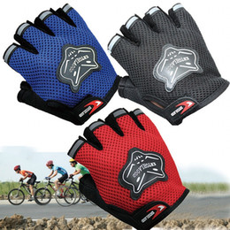 Wholesale Child Cycle Glove - Half Finger Cycling Gloves Men And children Summer Sports Motorcycle Gloves Luvas Guantes Ciclismo Mountain Bikes Bicycle Gloves