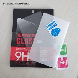 Wholesale Kindle Fire Glass - Wholesale- 30PCS Lot Tempered Glass Film For Kindle Fire HD 8 2016 Tablets Screen Protectors With Box By DHL