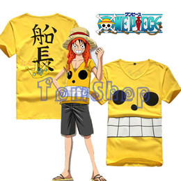 Wholesale Monkey D Luffy Cosplay - Wholesale- Anime One Piece Film Z Monkey D Luffy Captain Cosplay Costume Men Women T-shirt Summer Casual Tops Tee Shirts Free Shipping