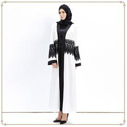 Wholesale Spandex Kaftan - muslim women dress lace robe musulmane Dubai Turkish print Ladies Clothing Women Arab Ladies Caftan Kaftan Malaysia Abayas