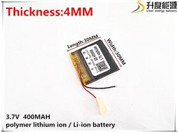 Wholesale Li Po Cell - Hot selling 3.7V 400mAh 403030 Lithium Polymer Li-Po li ion Rechargeable Battery cells For Mp3 MP4 MP5 GPS PSP mobile bluetooth