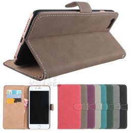 Wholesale Galaxy Wallet Retro - For Iphone 6s Cases Galaxy S7 Edge Matte Retro Walle PU Leather Case Cover Pouch With Card Slot and stand For iPhone 5 se Leather Pouch Case
