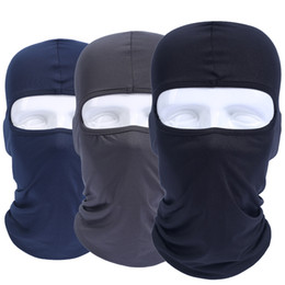Wholesale Head Caps Breathable - Balaclava Breathable Quick Dry Head Cover Motorcycle Tactical Military Army Airsoft Helmet Liner Cap Hats Protect Full Face Mask