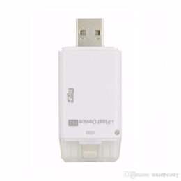Wholesale Memory Card Reader For Iphone - TF Card Micro Memory Card Reader USB OTG Adapter for iPhone 5 5S 6 6S Plus iPad