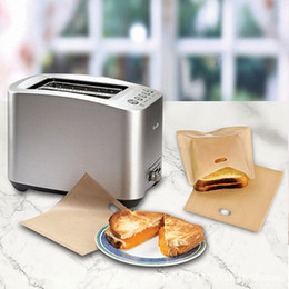Wholesale Wholesale Toaster - Reusable Toaster Bags Safe Non Toxic BBC Microwave Oven Bag Not Sticky Toast Poke Toastabags Make A Perfect Toasted Sandwich Hot 1 3rx
