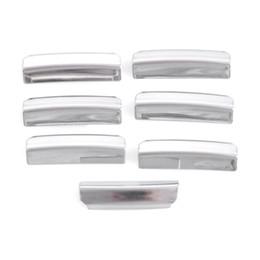 Wholesale Kia K3 Accessories - 7pcs set Stainless Steel Window Lifter Keysters Window Button Trim Car Accessories For KIA RIO K2 K3 K5 Sportage R