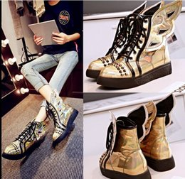 Wholesale Swing E - Wholesale New Arrival Hot Sale Specials Super Influx Warm Noble Soft Martin Sweet Sexy Rivets Swing Casual Lace Up Ankle Boots EU34-43