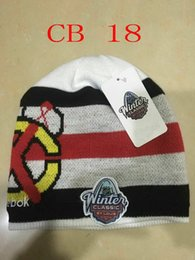Wholesale Solid Cotton Beanie - Free Shipping By DHL Americas Chicago Blackhawks Ice hockey 2017 Winter Classic Knit Stocking Hat Beanie Cap FLYERS Hats Cubs Beanies