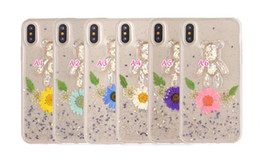 Wholesale bling bears - Flower Bear Cartoon Sexy Girl Lady Soft TPU Case For Iphone X Star Fairy Bling Glitter Luxury Dijiao Clear Silicon Fashion Skin Cover