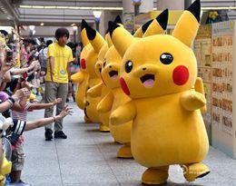 Wholesale Movie Cartoon Mascot - Professional Adult Size Pikachu Mascot Costume carnival anime movie character Classic cartoon Adult Character Fancy Dress Cartoon Suit DS1
