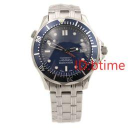2019 Luxo James Bond 007 Edição Limitada Em Aço Inoxidável Profissional Cronômetro Mens Relógios Sprots Automático Mecânico Homens Relógio de