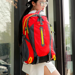 Wholesale Nylon School Bags Backpack - 2017 New Style Outdoor Sport Backpack 40L Fashion School Student Bag Laptop Shoulder Bag Camping Mountaineering Hiking Nylon Travel Bag
