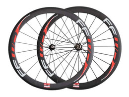 Wholesale Carbon Bike Clincher - FFWD Carbon Road Bike wheels F5R 50mm Clincher wheelset Novatec hub with CN spokes Basalt Brake Surface Carbon road bicycle bike wheels