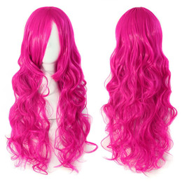 Wholesale Red Miku Wig - Hatsune miku wig Rose red Curly Wavy Heat Resistance Cosplay Wig Anime Show & Party & Performance Hair Perruque peluca peruca