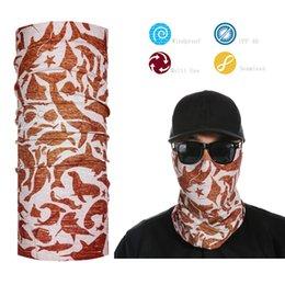 Wholesale Wholesale Fishing Masks - Wholesale- Fish Pattern Headwear Scarf Bandana Multifunctional Neck Face Protector Mask