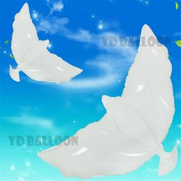 Wholesale Dove Balloons - Animal Balloons Wedding Helium Inflatable Biodegradable White Dove Balloons for Wedding Party Decoration Doves Shaped Bio Balloons DHL Free