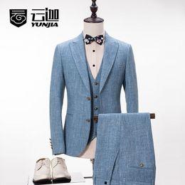 Wholesale Men S Wedding Suit Back - 2017 NEW BEST MEN MEN`S Business SUIT   WEDDING FORMAL BRIDEGROOM BUSINESSMAN Peaked Lapel Suits Tuxedos Groom (jacket+pant+vest+tie)