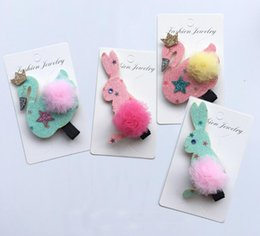 Wholesale Kawaii Baby Headbands - INS Glitter Cute swan Cartoon Bowknot Baby Girls Hairpins Solid Kawaii Gmestone Icecream Cone Girls Bunny Hair BB Clips Headware