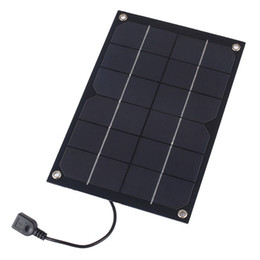 Wholesale Solar Charge Bank - 5pcs lot 6W 5V Semi Flexible Solar Panel Monocrystalline Solar Cell with USB Output Regulator for Charging Smart Phone Power Bank