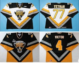 Wholesale White Womens Cape - Customize QMJHL Cape Breton Screaming Eagles Jersey 4 David Victor 77 Patrick Yetman Mens Womens Kids Ice Hockey Cheap Jerseys Goalit Cut