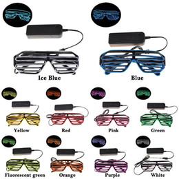 Simple EL lunettes El Wire Mode Néon LED Lumière Up Shutter En Forme Glow Lunettes de Soleil Rave Costume Party DJ Bright SunGlasses ? partir de fabricateur