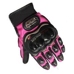 Wholesale Pro Biker Motorcycle Sport Racing - Wholesale- Pro Biker Fashion Motorcycle Gloves Full Finger Men Women Motos Sports Motorbike Motocross Protective Gear Racing Glove M - XXL