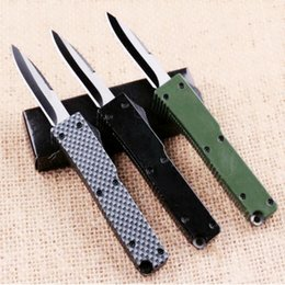 Wholesale Aluminum Oxides - Highly recommended Portable delicate knife aluminum oxide T6 440 camping gift knife free shipping 1pcs