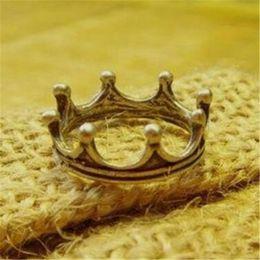 Wholesale Cheap Vintage Wedding Engagement Ring - Crown Ring Vintage Engagement Rings for Fingers DHL Charm Princess Cheap Fashion Jewelry Anniversary Wedding Ring Free Shipping