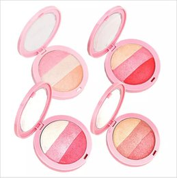 Wholesale Pressed Blush - Wholesale 3 Colors By Nanda Baked Blush Palette Blusher Soft Natural Flushed Face Mineralize Pressed Powder Cheek Color free shipping