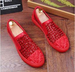 6784380ddf6a6e 2019 herren silberne müßiggänger Italien Style Fashion Herren Silber  Echtleder Loafers Mens Casual Dress Wohnungen Schuhe