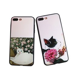 Wholesale Cute Design Plastic Bag - For Iphone 7 Plus Full Protection TPU PC Back Case Smile Carrio Cute Cat Design For Iphone 6S 6 5 5S Opp Bag