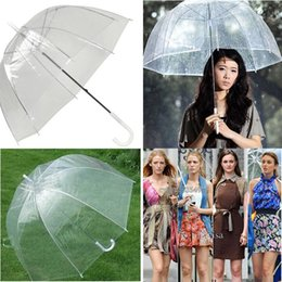 "Wholesale Wholesale Umbrellas Bubble - 34"" Big Clear Cute Bubble Deep Dome Umbrella Gossip Girl Wind Resistance"